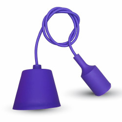 E27 PENDANT HOLDER PURPLE -...