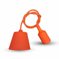 E27 PENDANT HOLDER ORANGE -...
