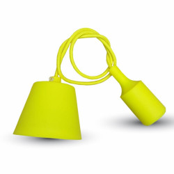 E27 PENDANT HOLDER YELLOW -...