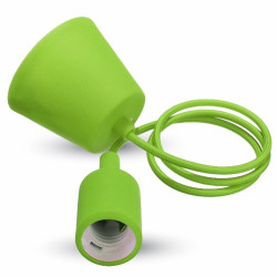E27 PENDANT HOLDER GREEN -...