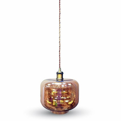 GLASS PENDANT LIGHT UMBER -...