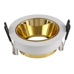 GU10 FITTING ROUND-WHITE+GOLD