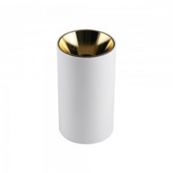 GU10 FITTING ROUND WHITE+GOLD