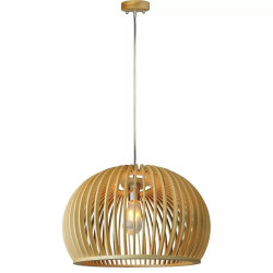 WOODEN PENDANT LIGHT WITH...